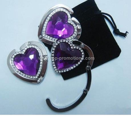 sweet heart shape handbag hanger