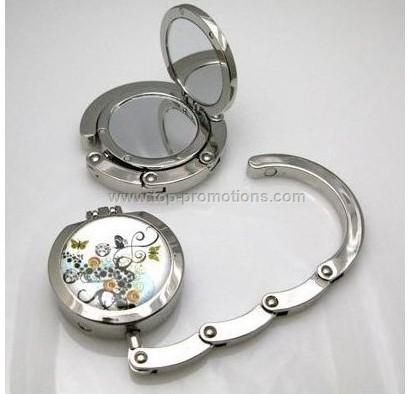 Foldable purse hook mirror