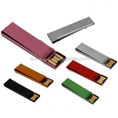 Multicolor 2GB Clip Style USB Flash Drives