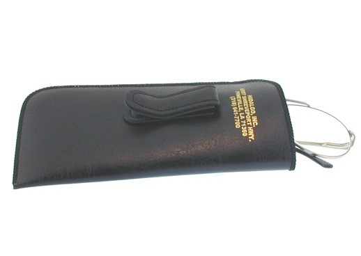 Slip-in carrying case with stainless steel clip