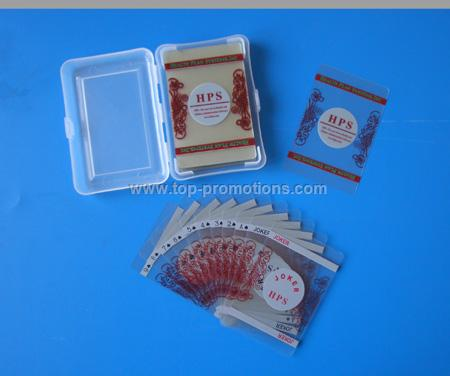 Transparent PVC Playing Cards