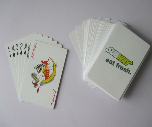 paper or plastic playing cards