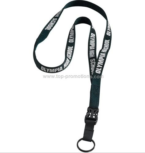 Woven Nylon Lanyard with Slide Release Buckle Meta