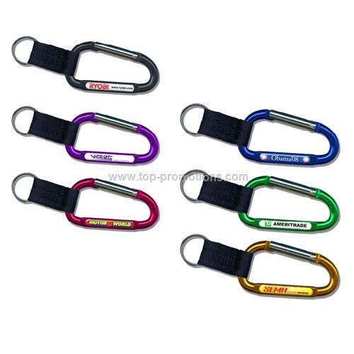 Carabiner Key Chain W/ Strap