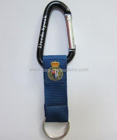 High Quality Aluminum Carabiner with strap and key