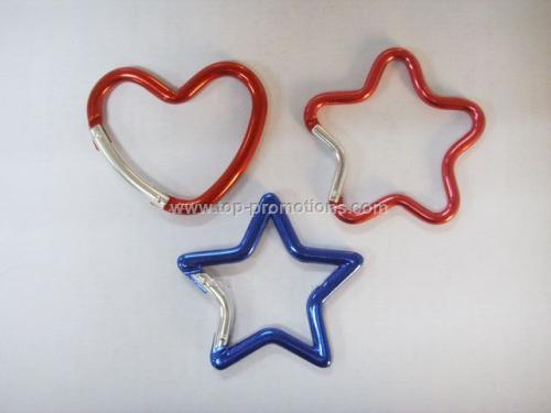 Heart and Star shape carabiner