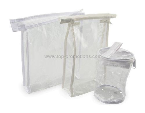 Vinyl Rectangle zipper bag