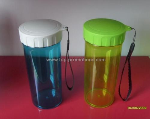 Plastic Advertising Cups With Rope Readily Cup