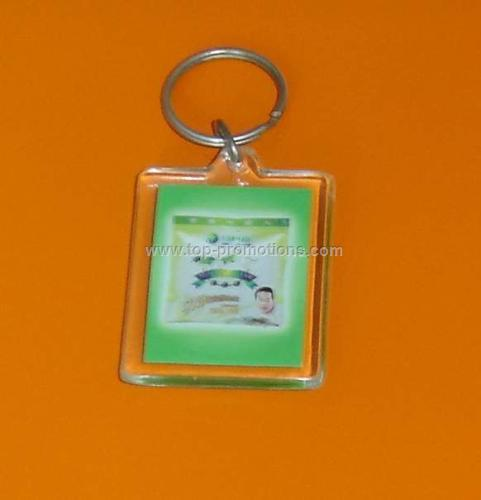 Rectangle acryl keychain