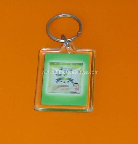 Rectangle acryl keychain