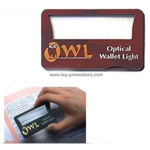 Magnifier card with light