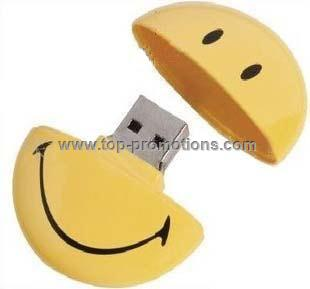 Smile face USB flash drive