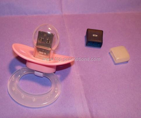 USB Baby Girl Pacifier Flash Drive