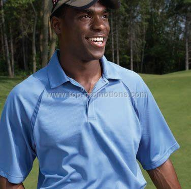 Men 3D Textured Golf Shirt