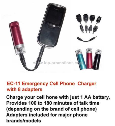 Emergency cell phone charger