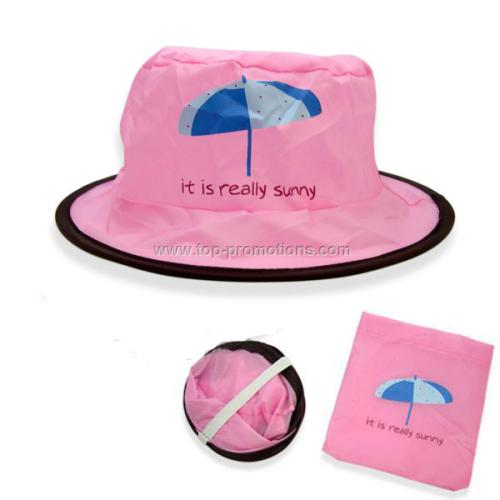 Pink Foldable Fisher Hat