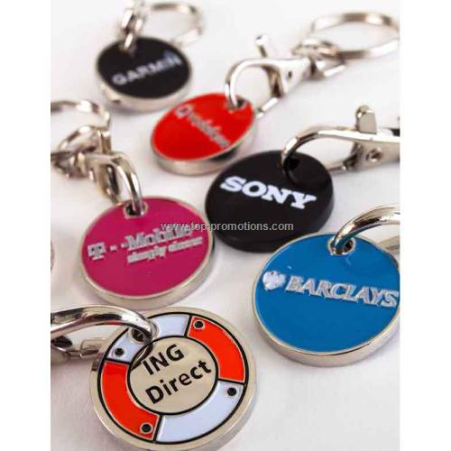 Trolley & Locker Coin Keyrings
