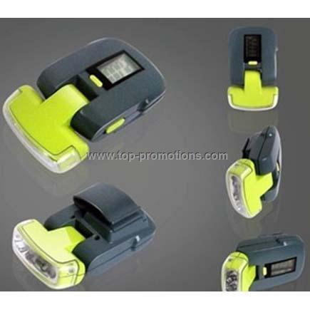 Pedometer with LED flashing light