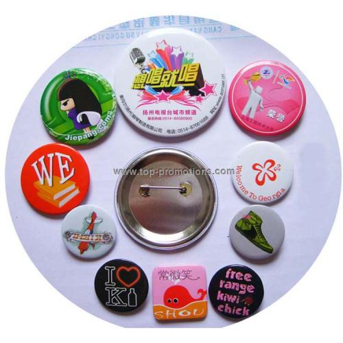 Tinplate Badge pins with metal back
