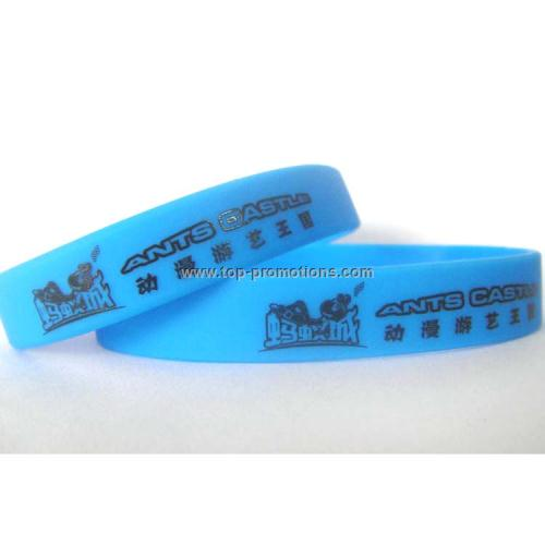Branded silicone wrist bands