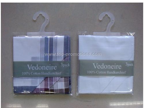 3 Pcak Combed Handkerchief