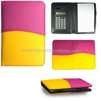 Leather Notebook with Calculator