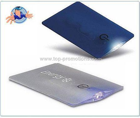 Card Shape LED Light Promotional items with logo