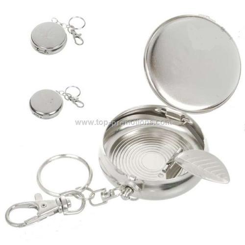Metal Pocket ashtray keychain