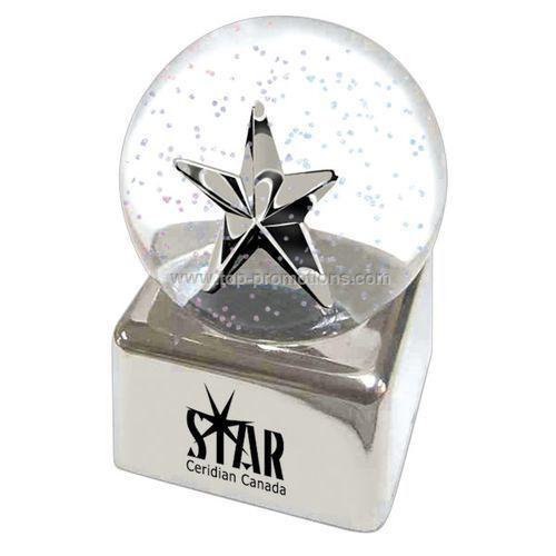 Silver Star Glitter Globe