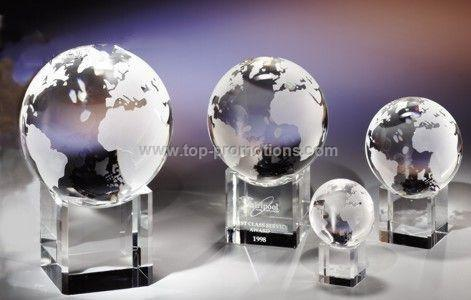 Crystal globe on base