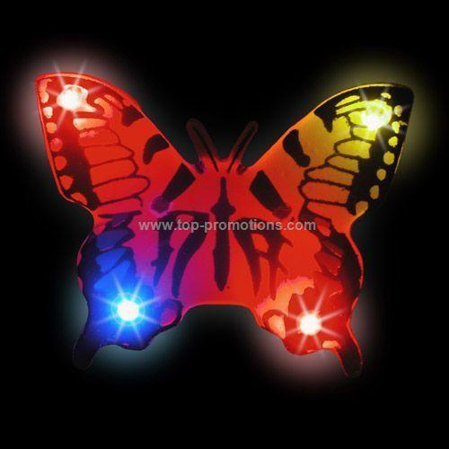 LED Light-Up Magnet - Black Butterfly