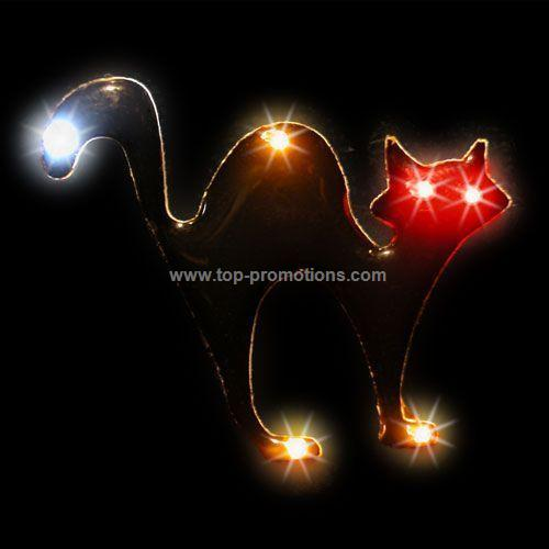 LED Light-Up Magnet - Black Cat