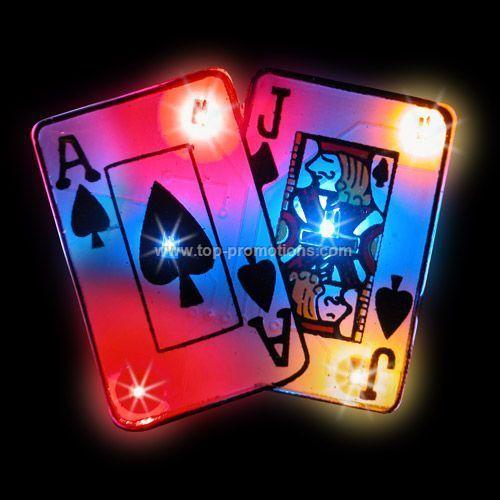 LED Light-Up Magnet - Black Jack