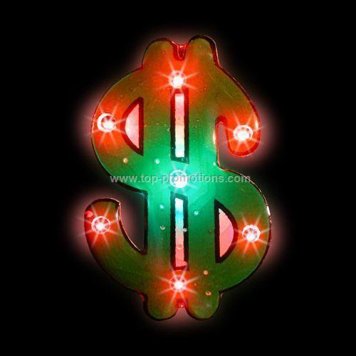 LED Light-Up Magnet - Dollar Sign