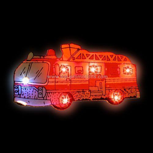 LED Light-Up Magnet - Fire Truck