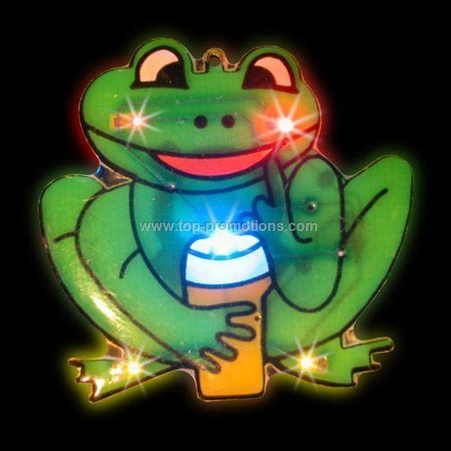 LED Light-Up Magnet - Frog