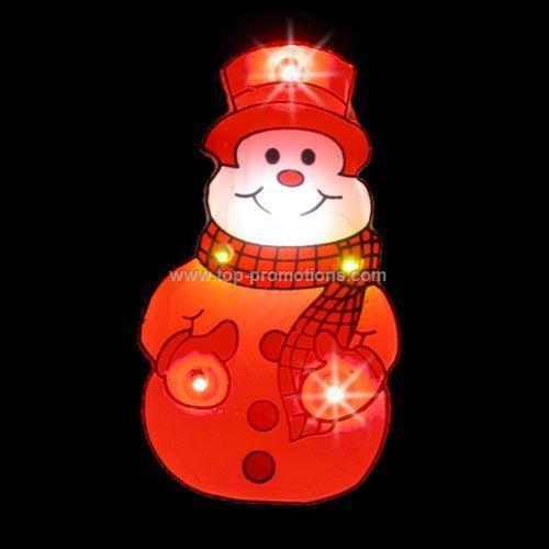 LED Light-Up Magnet - Snowman