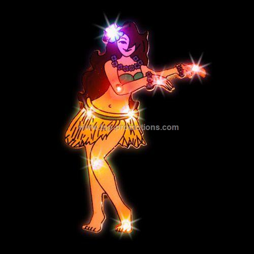 LED Light-Up Magnet - Hula Dancer