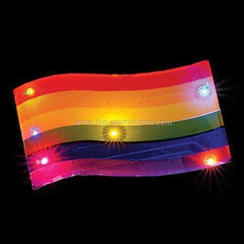 LED Light-Up Magnet - Rainbow Flag