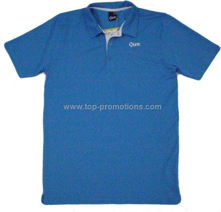 Plain blue polo t-shirt