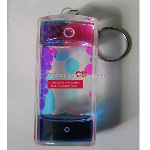 Lava Hourglass Keychain