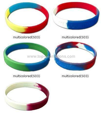multicolored Silicone Bracelets