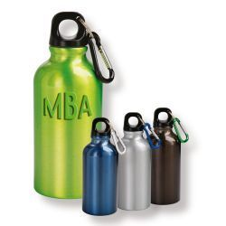 Aluminium Drinking Bottle With Carabiner