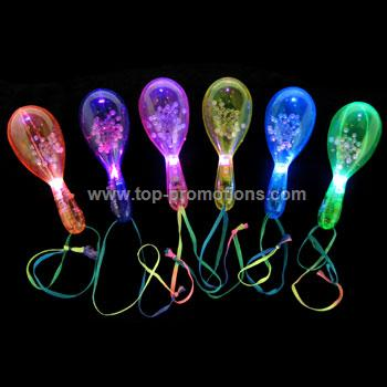 LED Clear Maracas - Assorted Colors