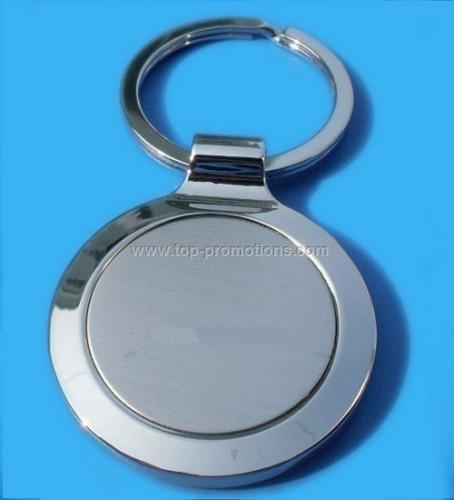 Round Metal Keychain Keyring