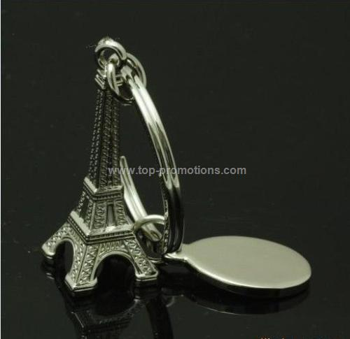 Custom Eiffel Tower keychain