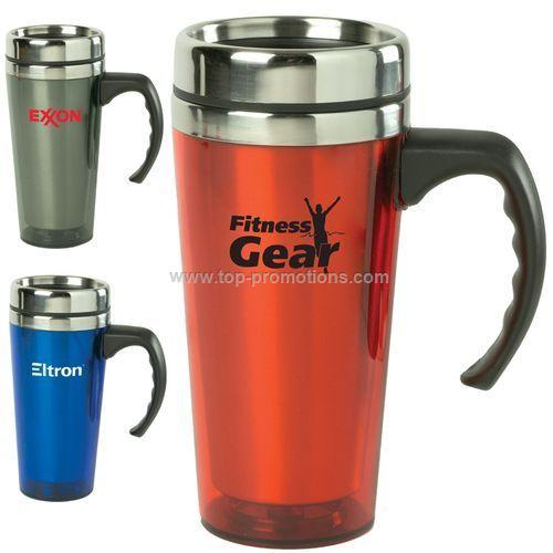 16oz  Color Stainless Steel Travel Mug