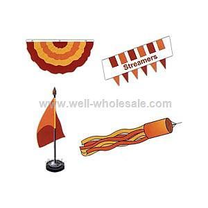 Custom pennant streamer