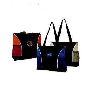 beach tote bag with top zipper