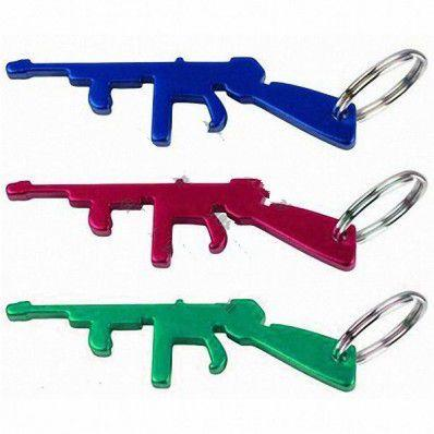 AK47 Submachine Gun Bottle Opener Keychain